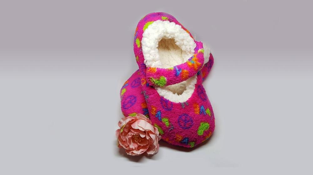 Теплые детские тапочки-слипперсы р.30-32 Walmart Сша фото №1