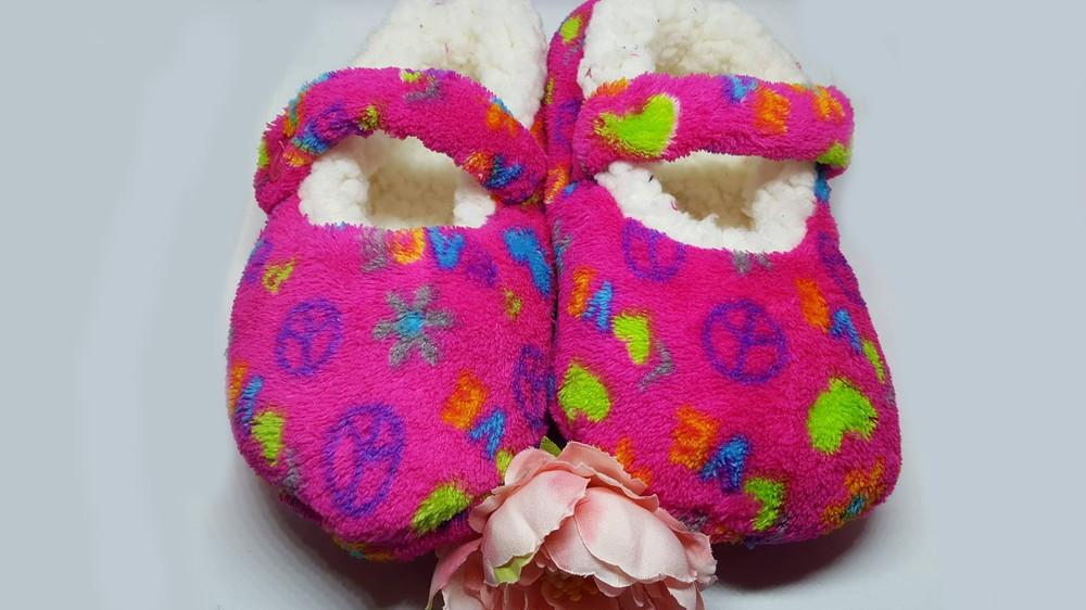 Теплые детские тапочки-слипперсы р.30-32 Walmart Сша фото №2