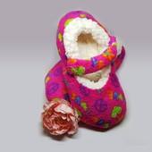 Теплые детские тапочки-слипперсы р.30-32 Walmart Сша