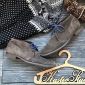 Натуральные ботинки дерби р-р 46
