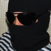 Фирменная флисовая балаклава шарф отворот 55-57