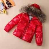 зимние куртки на 4-7 года с натуральным мехом лисы