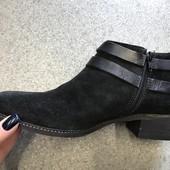 Новые женские ботинки,ботильоны,бренд Minelli, замшевые,кожаные , 40 р