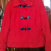 Красное пальтишко для будущей мамы, размер 12