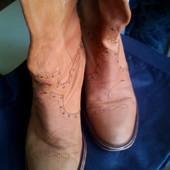 Демисезонные кожаные сапожки