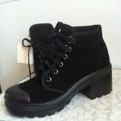 кожаные ботинки сапоги ботильйоны бершка испания 37