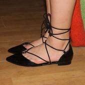 Балетки , туфли на шнуровке asos