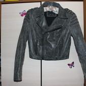 Стильная кожаная куртка косуха amisu