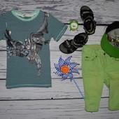 4 - 6 лет 110 - 116 см H&M Фирменная крутая футболка стильному мальчику Бэтмен Batman бетмен
