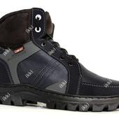 Зимние ботинки для мужчин синего цвета (СБ-11срс)