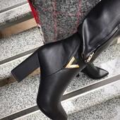 Ботиночки V@lentino.  Натуральная кожа и замш