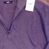 Пуловер с высоким воротником большого размера Celio коричневый