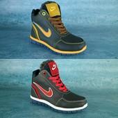 Ботинки Nike, натур. кожа на меху, р. 30-35, код gavk-10538