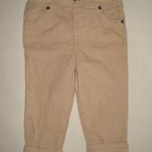 не ношеные брюки вельветовые на подкладке на 12-18 мес.