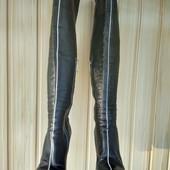Кожаные моднявые ботфорты Basconi