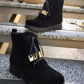 Ботинки кожа замш зима