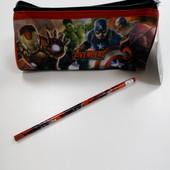 Школьный пенал с карандашом Marvel