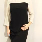1703 Черно-белое платье TU L