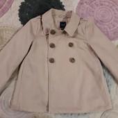 Короткое пальто на девочку 9-11 лет