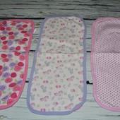 Фирменные разные натуральные слюновпитывающие полотенца для дома и малыша