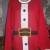 Новорічна кофта для Санта Клауса(великий розмір)XXL