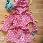 Фирменный халат Baby малышке 1-1,5 года состояние отличное