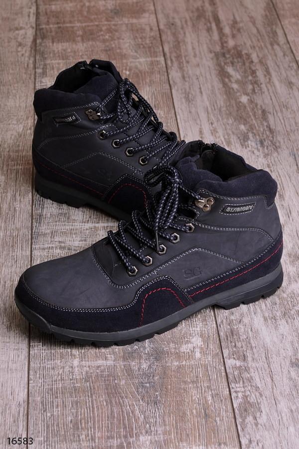 Зимние женские теплые ботинки на меху фото №1