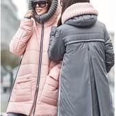 Очень классная зимняя куртка 2 цвета р-ры 42-50