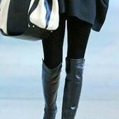 Высокие сапоги ботфорты на меху фирмы Rieker p. 40 стелька 25,8 см.