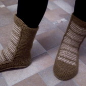 Женские вязаные носки-сапожки, ручная работа, новые
