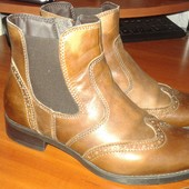 Кожанные ботинки 38р(24-24,5по стельке)