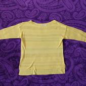 Желтый ажурный свитер Cato США!