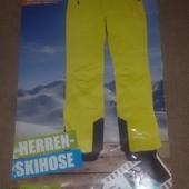 Лыжные мужские термо брюки, ярко-желтые от Crivit Sports, р-р 50 европейский