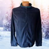 Мужская синяя флисовая кофта р.ХХl Takko Fashion Германия