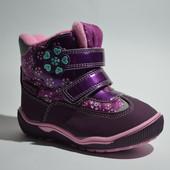 Сноубутсы, сапоги зимние для девочки Tom.М арт.1569-D purple