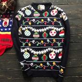Мужской свитер с новогодним принтом Cedarwood State рр М
