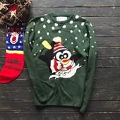 Стильный новогодний мужской свитер Cedarwood State рр С