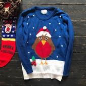 Зимний мужской свитер с птичкой Atmosphere рр Л