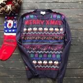 Мужской зимний свитер с орнаментом George рр С