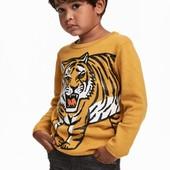 Хлопковый свитер с тигром H&M 2-4