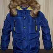 Куртка зимняя для мальчиков 128,140,146 Венгрия 3 цвета