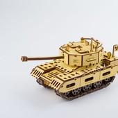 Деревянный 3D пазл танк, ekoGoods, Украина