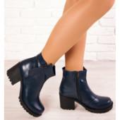 Ботинки- ботильоны на каблуке из натуральной кожи! Стильные и современные!