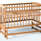 Детская кроватка на шарнирах, защита на бортик в подарок