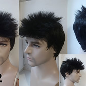 Мужской парик, чёрный шоколад каштан блонд, волос, для мужчин, унисекс