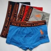 Мужские трусы боксёры Polo Ralph Lauren ткань хлопок. Акция