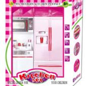 Кухня 2 в 1 свет звук от Jambo холодильник кукольна мебель