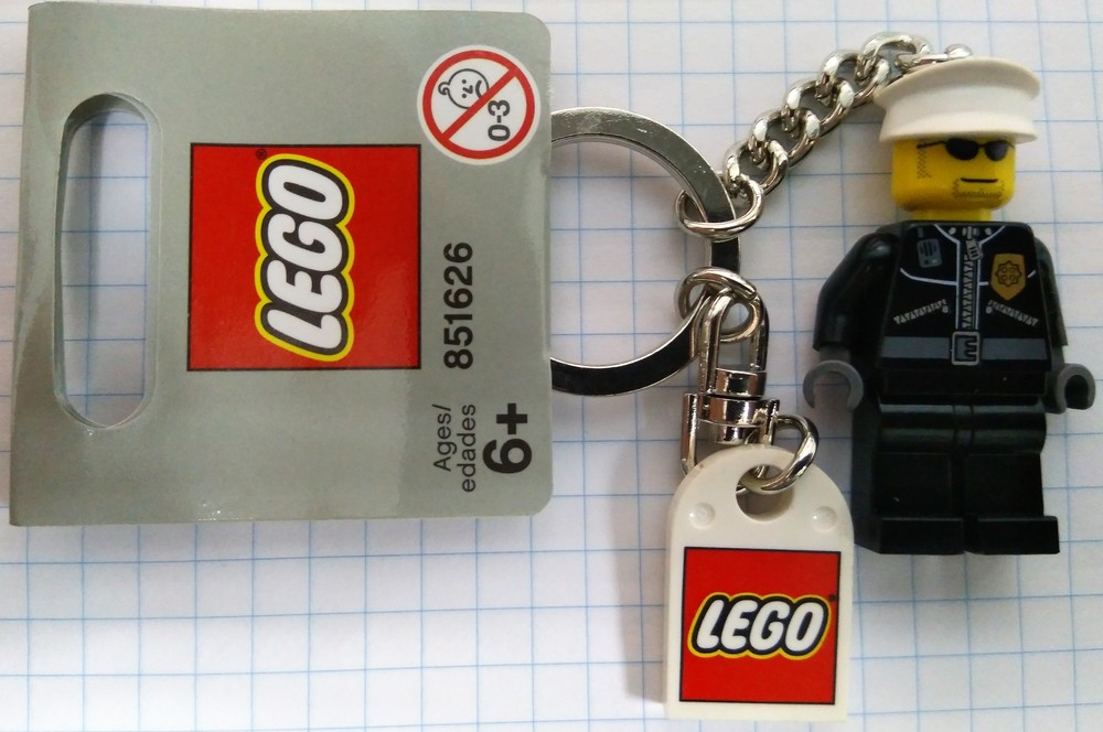 Lego City Брелок Полицейский 851626 фото №1