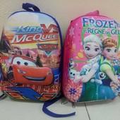 Рюкзак дошкольный Frozen и Тачки на толстых лямочках, чемодан