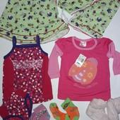 Пакетик летних вещей для малышки.